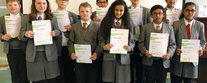 Lower School LAMDA Success