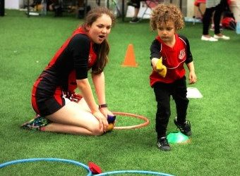 Infants at Sports day