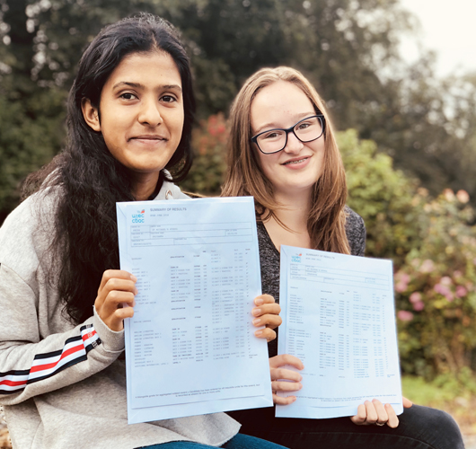 St Michaels School academic results Priyanka and Charlotte2