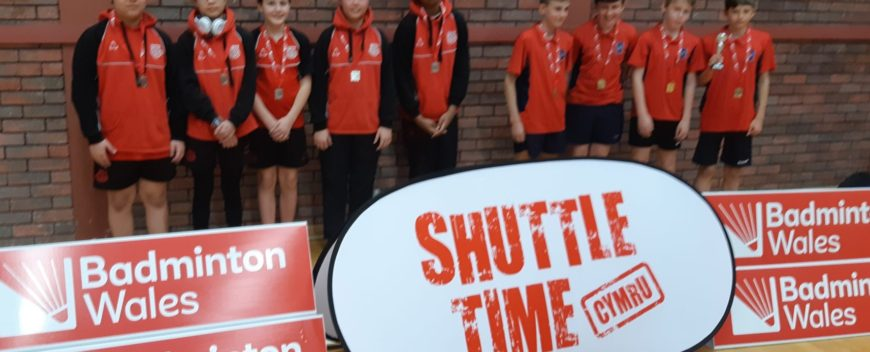 Great Success at First Competitive Badminton Competition
