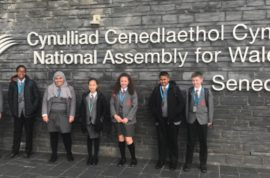 Senior School Council's visit to the Senedd – The National Assembly for Wales